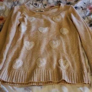 Lauren conrad blush heart sweater